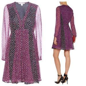 Diane von Furstenber Purple Ivetta Printed Silk